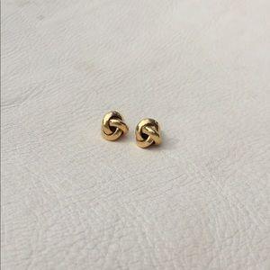 Jewelry - Gold Tone Knot Earrings